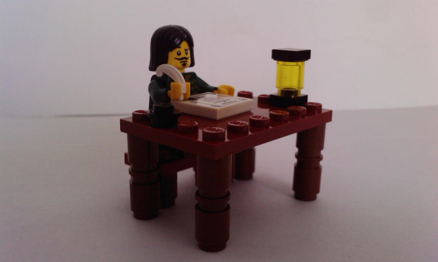 Lego writer (with feather) by MG18