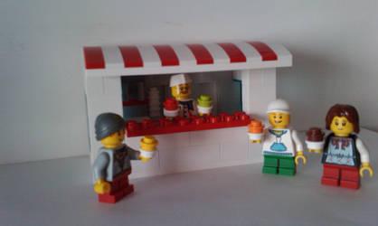 Lego Ice Cream Shop by MG18