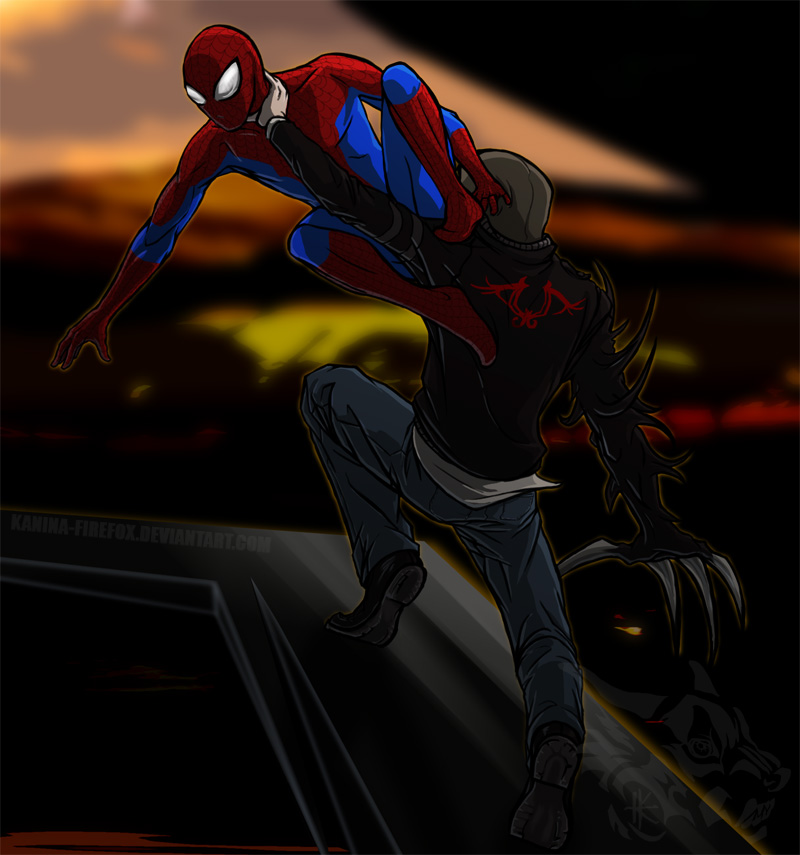 Spiderman Vs. Alex Mercer by Kanina-Firefox