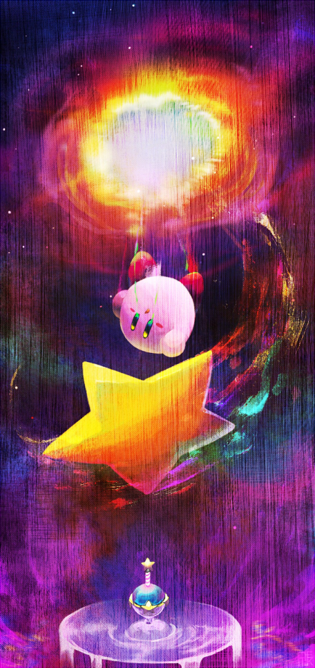 kirby and star by rike-e