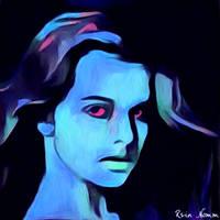 Blue Girl by ReinNomm