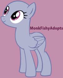 Pretty Pegasus - Pony Base by MonkFishyAdopts