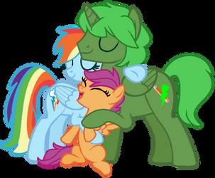 Group Hug! by MonkFishyAdopts