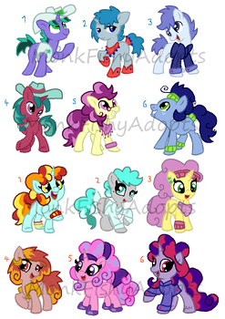Pony Palette Adopts - OPEN