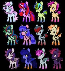 Tomboy Pony Adoptables - OPEN