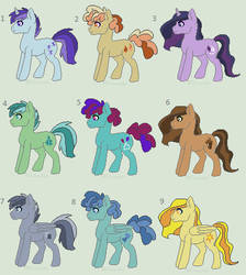 Pastel Stallion Adopts - CLOSED by MonkFishyAdopts