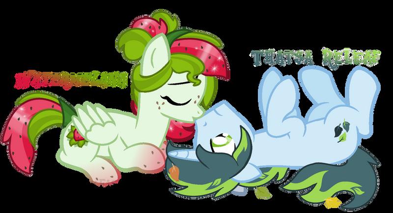 Watermelana x Thatsa Releaf - Boop the Snoot by MonkFishyAdopts