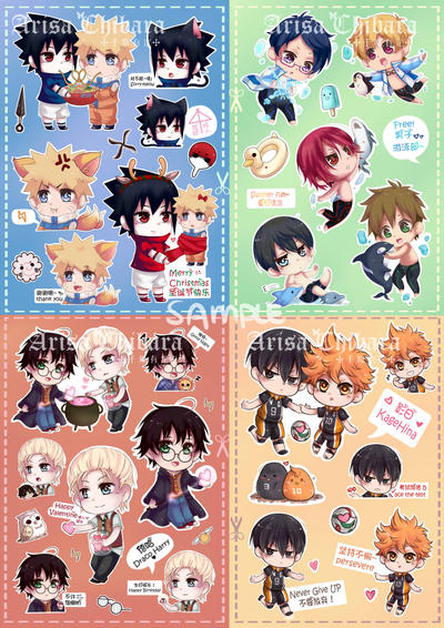 Chibi stickers (INSTOCK NEW PRICES) by arisa-chibara