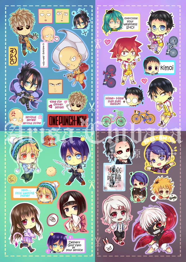 Sticker Sheet Sample by arisa-chibara