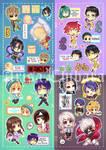 Sticker Sheet Sample by arisa-chibara