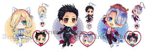 Valentine YOI Acrylic Charms (UPDATE)