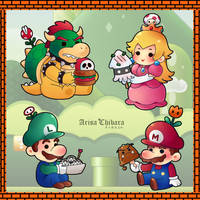Super Mario Character Foodies by arisa-chibara