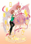 CCS Gold foil acrylic stand (Fated Angels)