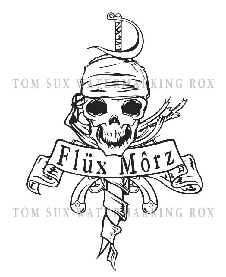 pirate tattoo design by synner on deviantart. Black Bedroom Furniture Sets. Home Design Ideas