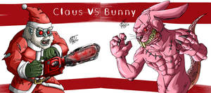 Holiday Faceoff Claus VS Bunny
