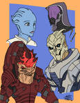 Mass Effect alien team
