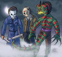 Geotrix meets the Slashers by AntManTheMagnif