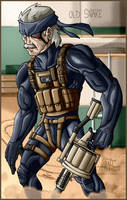 MGS4 - Old Snake by AntManTheMagnif