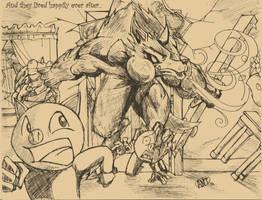 Big Badass Wolf: Dinnertime by AntManTheMagnif