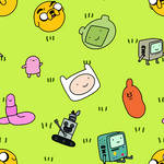 Bro Squad (Adventure Time Seamless Pattern Tile) by Gian-Inger
