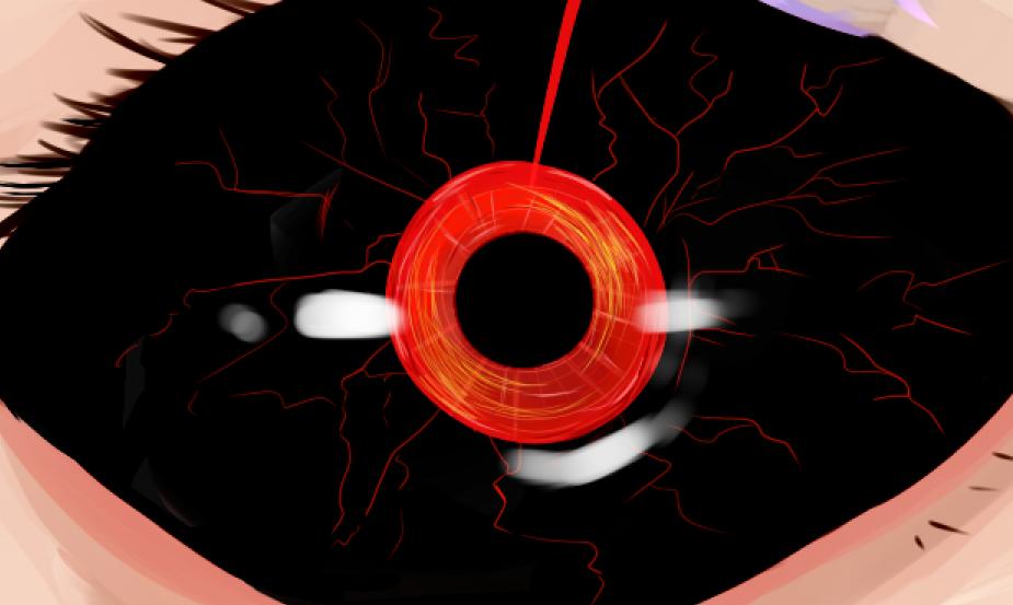 Kaneki Eye Detail by InsomniaSquared