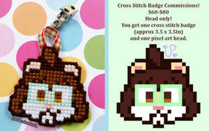 Cross Stitch Badge Commissions Open!