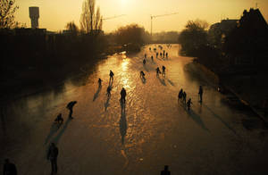 A City Winter Scene by AKIC96