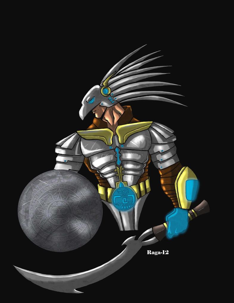 Futuristic Warrior Futuristic aztec warriorAnime Futuristic Warrior