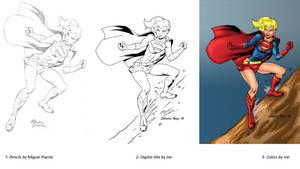 Supergirl steps by Salvador-Raga