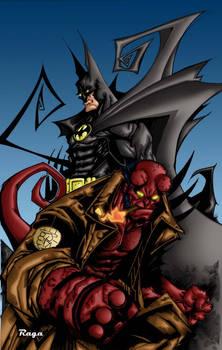 Batman-Hellboy colors