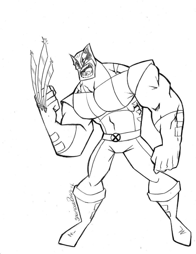 Wolverine Pencils by Salvador-Raga