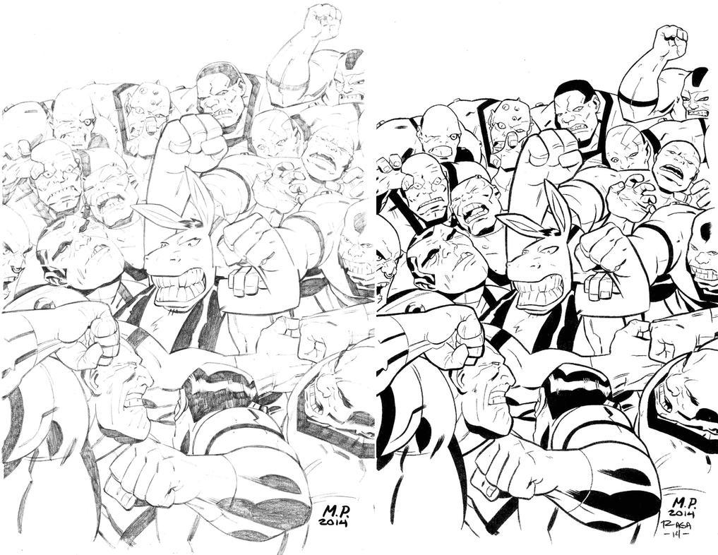 Pencils & inks by Salvador-Raga