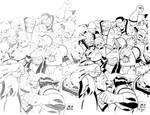 Pencils and inks by Salvador-Raga