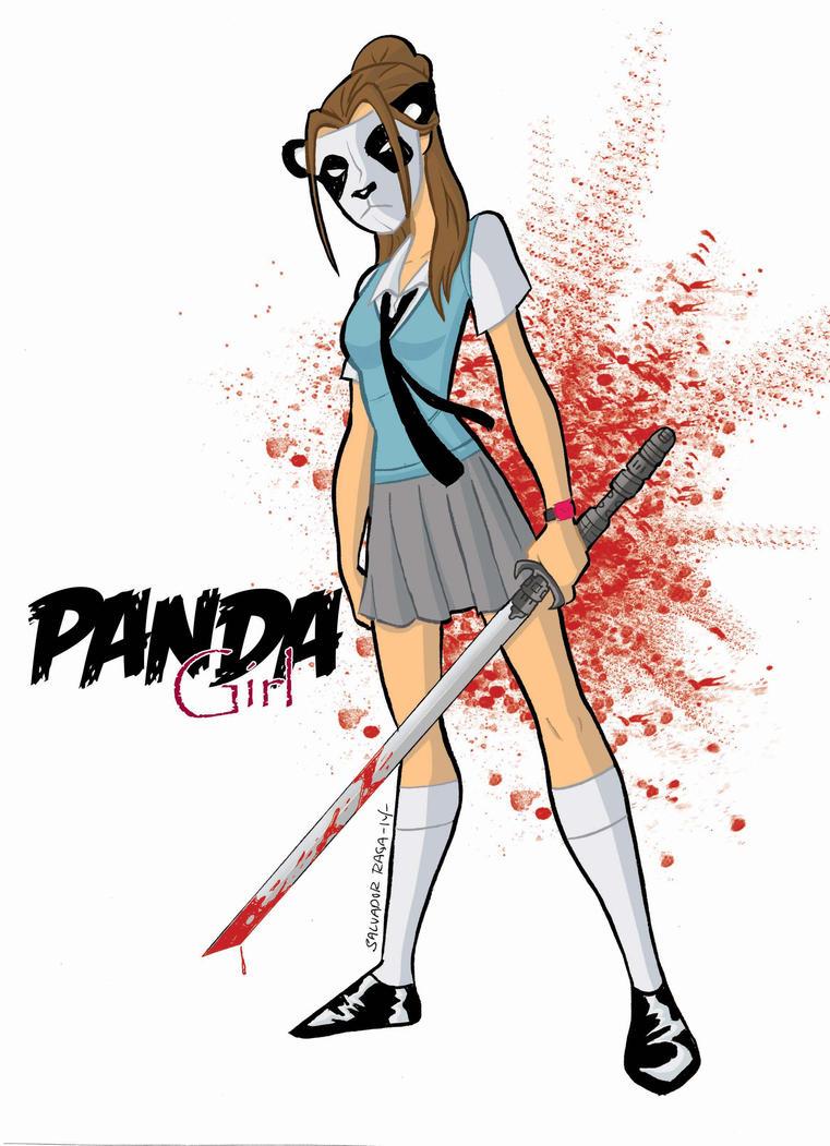 Panda Girl colors by Salvador-Raga