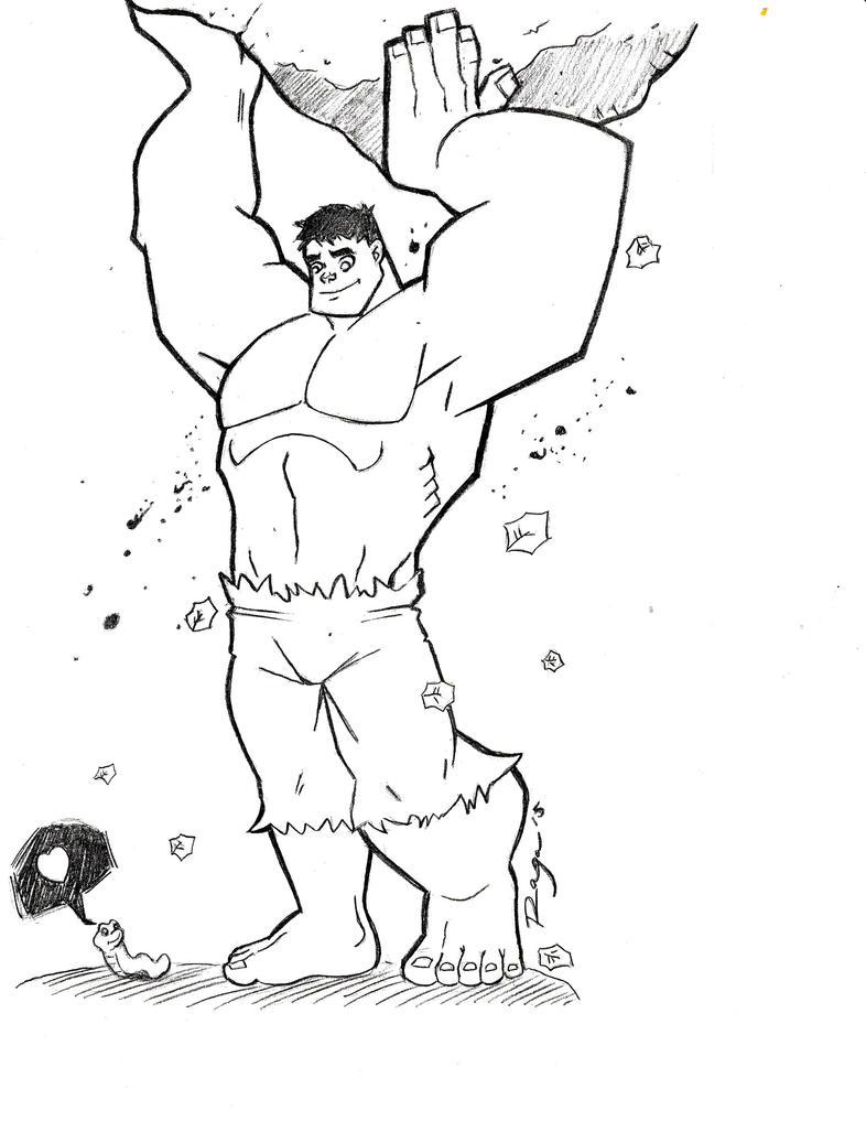 Hulk and little friend. by Salvador-Raga