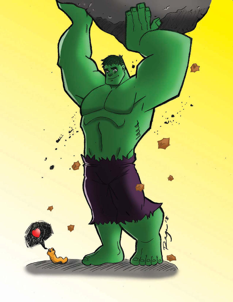 Hulk and little friend-colors by Salvador-Raga