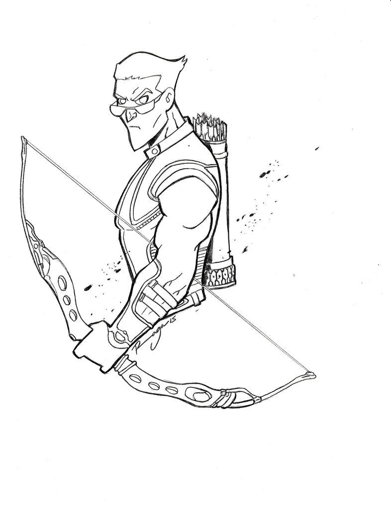 Hawkeye Sketch by Salvador-Raga