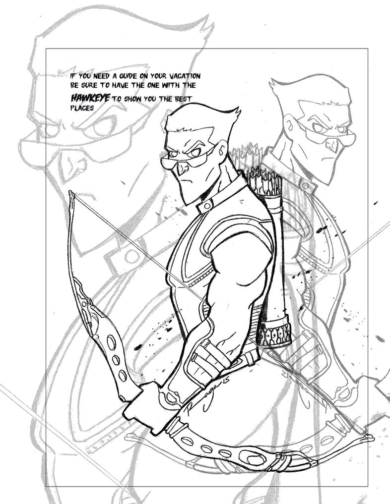 Hawkeye page-2 by Salvador-Raga