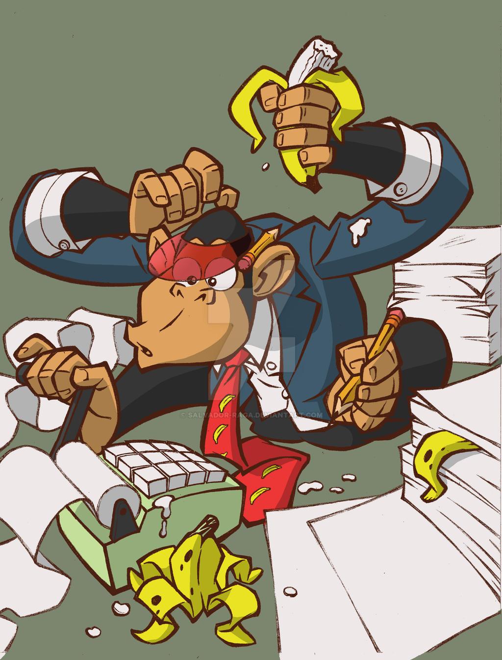 Monkey Card by Salvador-Raga
