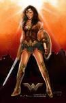 Wonder Woman movie poster.