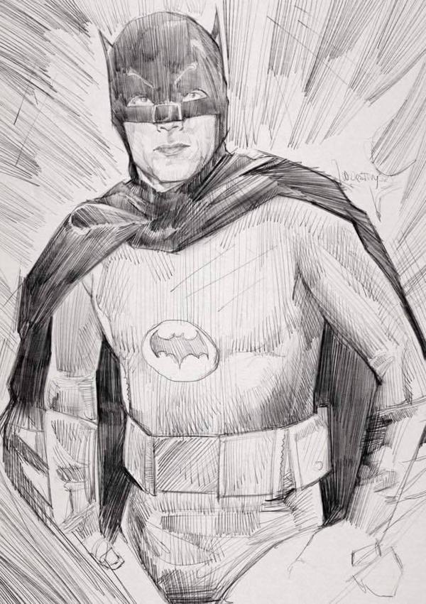 tribute to adam west. batman 66 by wallacedestiny