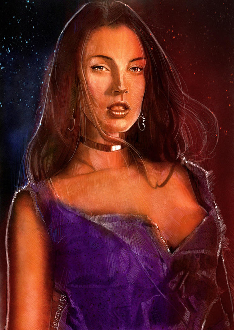 Megan Fox Portrait painting by wallacedestiny