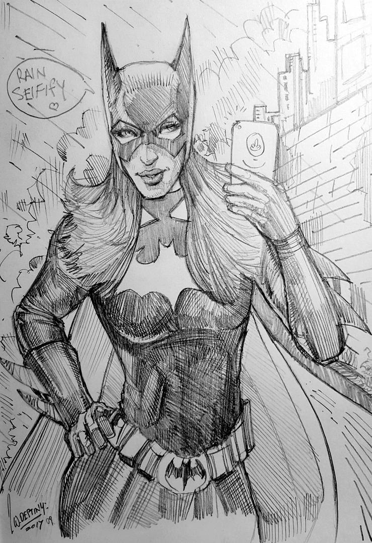 Batgirl comic sketchbook by wallacedestiny