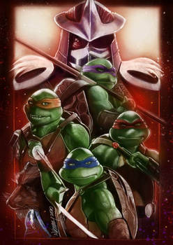 Old school poster for 30th TMNT Anniversary