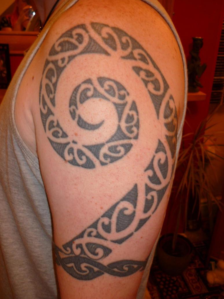 maori koru arm piece by javez tmf on deviantart. Black Bedroom Furniture Sets. Home Design Ideas