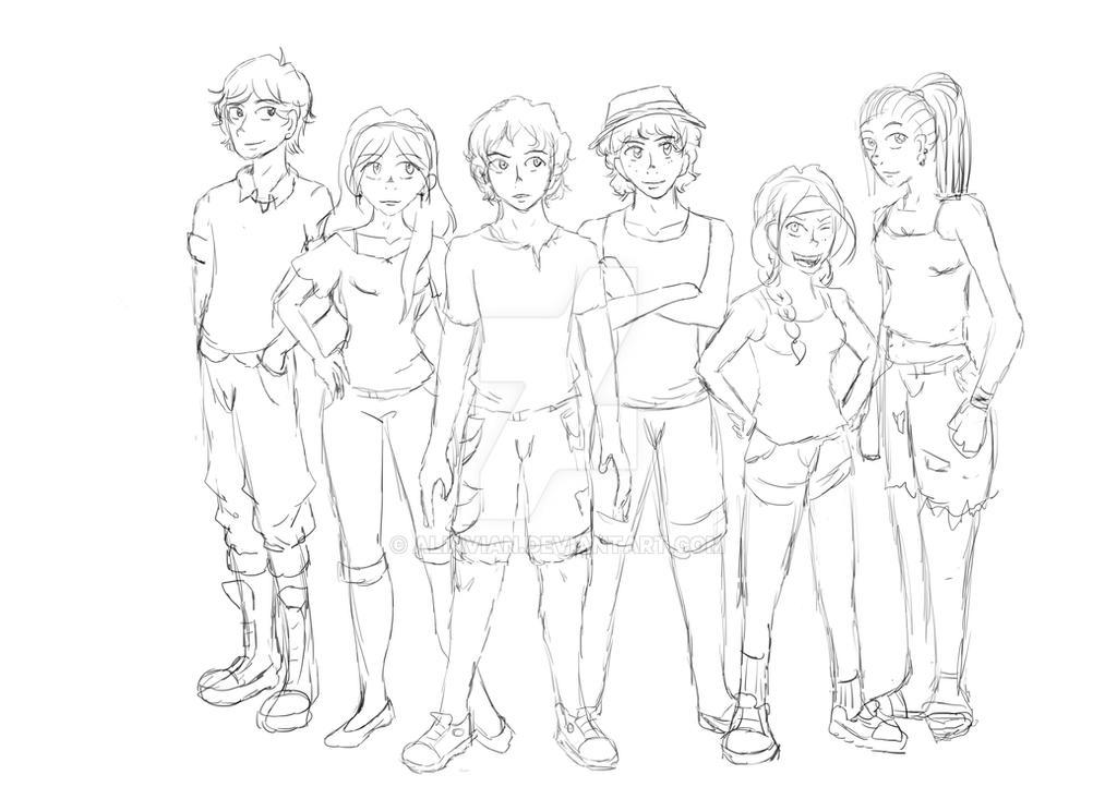 WIP: GONE Characters by AliAvian
