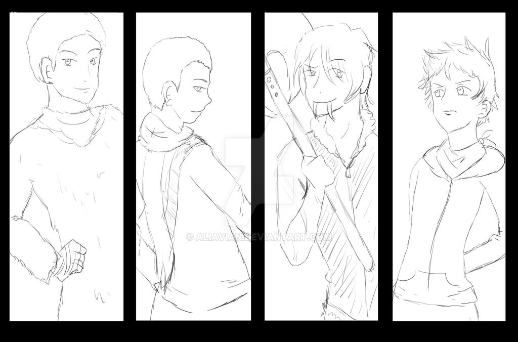 Commission Sketch: Team MANA by AliAvian