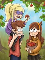 Gravity Falls- Apple Picking by AliAvian