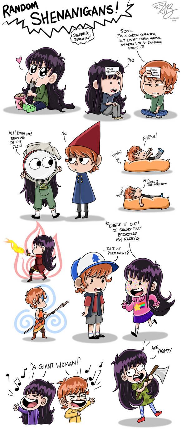 Random Shenanigans!  by AliAvian