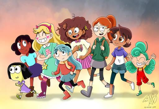 Modern Cartoon Girls- Here We Come!